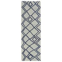 Hand-tufted Utopia Lucca Ivory Wool Rug - 2'6 x 8'
