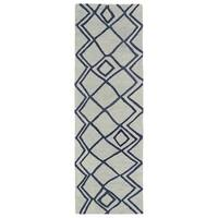 Hand-tufted Utopia Lucca Ivory Wool Rug - 3' x 10'