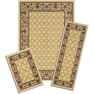Capri Golden Lattice 3-piece Rug Set