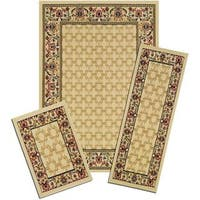 Achim Capri Golden Lattice 3-piece Rug Set - 5' x 7'