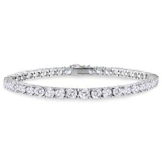 Miadora Sterling Silver Cubic Zirconia Tennis Bracelet