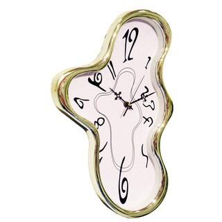 Salvedor Dali Silver Chrome 18-inch Melting Clock