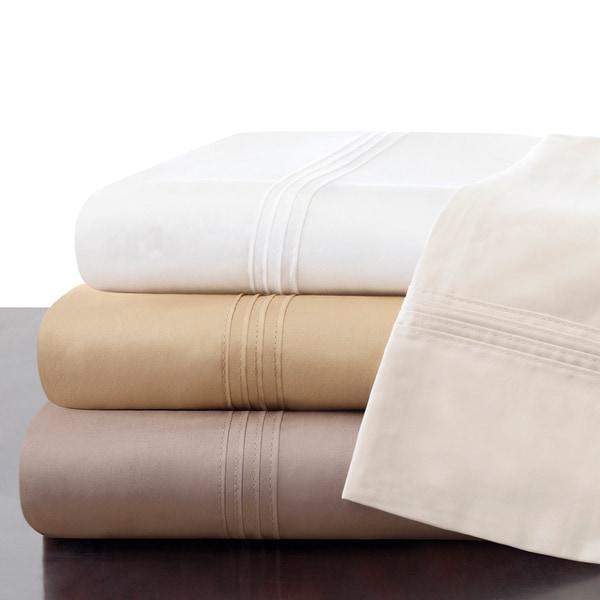 Madison Park Signature Cotton 600 Thread Count Pima Oversized Sheet Set