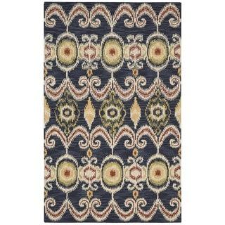 Nourison Siam Hand-tufted Indigo Rug (5'6x7'5)