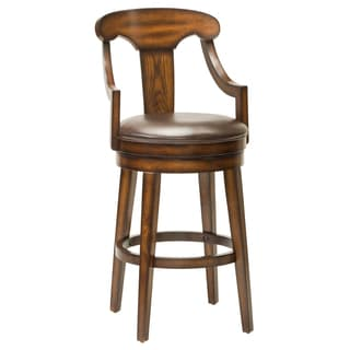 Upton Swivel Brown Wooden Stool