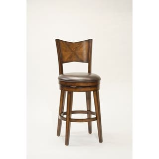 Jenkins Rustic Oak Swivel Stool