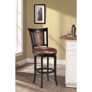'Cecily' Black Honey and Hammered Copper Stool