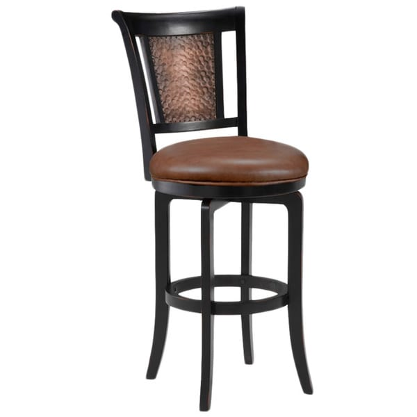 Shop Cecily Black Honey And Hammered Copper Stool On