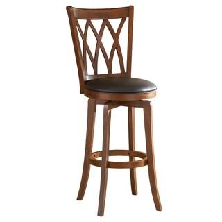 brown cherry crisscross back stool