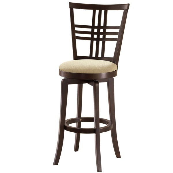 'Tiburon II' Espresso Cross-back Swivel Stool