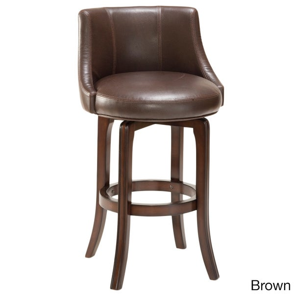 Napa Valley Cherry And Faux Leather Swivel Stool Free