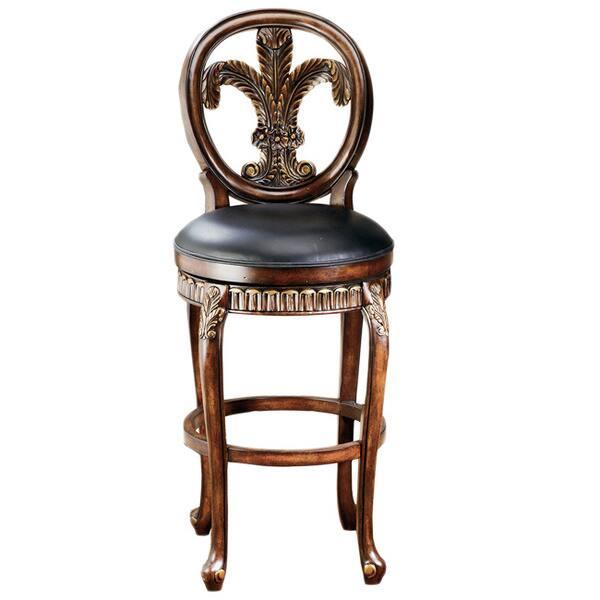 Marvelous Fleur De Lis Wooden Stool Short Links Chair Design For Home Short Linksinfo
