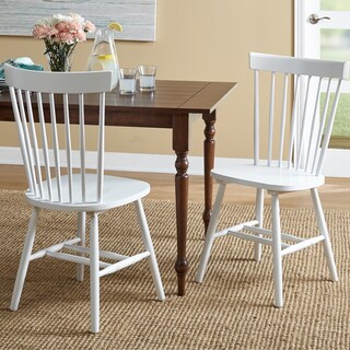Simple Living Venice Dining Chairs (Set of 2) - N/A (Option: White - Painted)