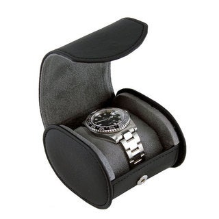 Heiden 'Travelers' Black Oval Watch Case