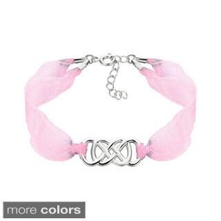 .925 Sterling Silver Double Infinity Ribbon Bracelet