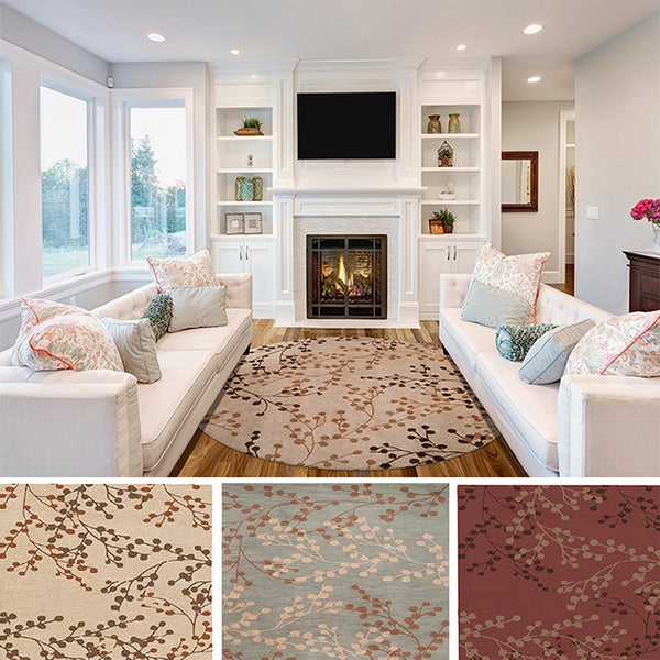 Hand Tufted Amador Contemporary Floral Wool Area Rug 8