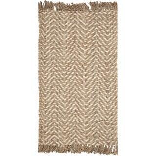 Safavieh Casual Natural Fiber Hand-Woven Bleach / Natural Jute Rug (2'6 x 4')
