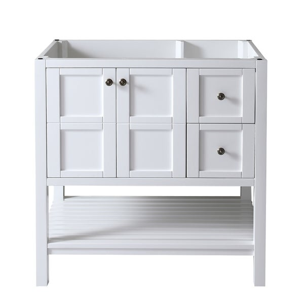 white 36 inch bathroom vanities virtu usa winterfell 36 inch white bathroom vanity cabinet 24590