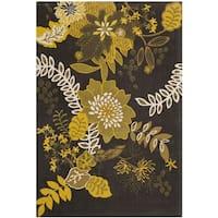 Safavieh Hand-loomed Cedar Brook Brown/ Citron Cotton Rug - 4' x 6'
