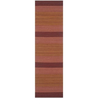 Safavieh Handmade Marbella Kathchen Modern Wool Rug (23 x 8 Runner - Rust)