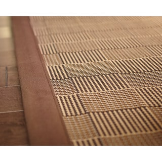 Jani Pazi Brown Bamboo Rug (5' x 8')