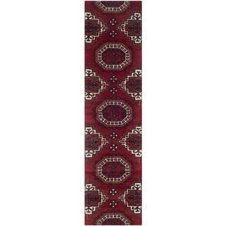 Safavieh Handmade Wyndham Red Wool Rug (2'3 x 9')