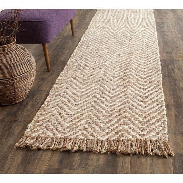 Safavieh Natural Fiber Hand Woven Chevron Off White
