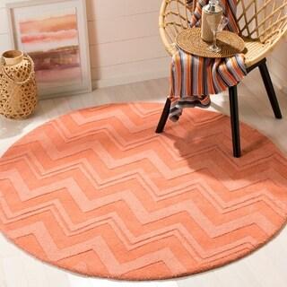 Safavieh Handmade Impressions Peach Wool Rug (5' Round)