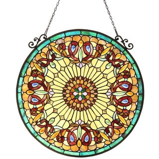 Chloe Tiffany-style Round Hanging Window Panel