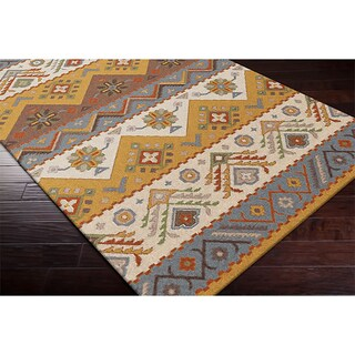 Hand-tufted 'Plumas' Transitional Southwestern/ Tribal Wool Area Rug (3'6 x 5'6) (3 options available)