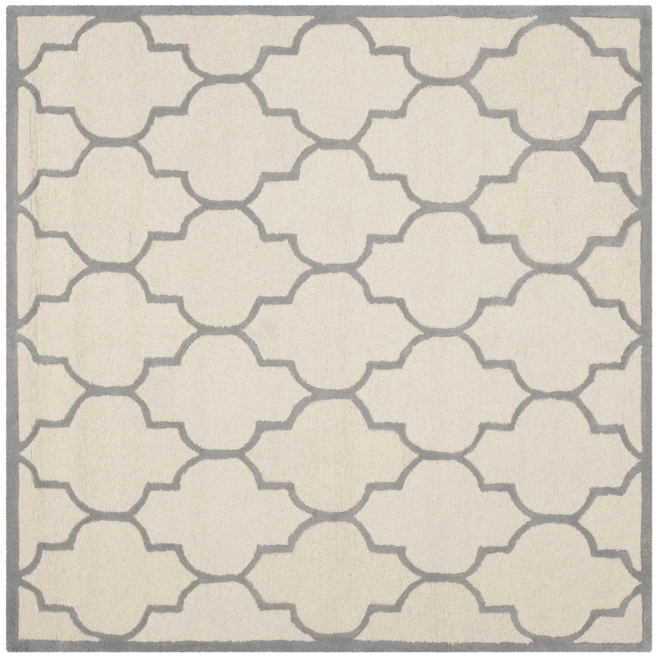 Safavieh Handmade Moroccan Cambridge Ivory/ Silver Wool R...