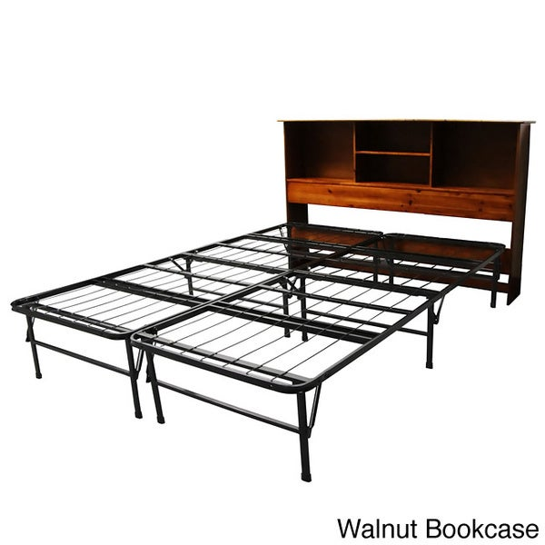 Shop Durabed Queen Bed Frame With All Wood Bookcase