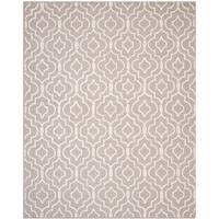 Safavieh Handmade Moroccan Cambridge Beige/ Ivory Wool Rug (8' Square) - 8' x 8'