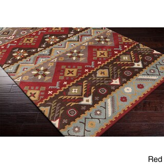 Hand-tufted Plumas Transitional Aztec Wool Area Rug (5' x 7'9) (3 options available)