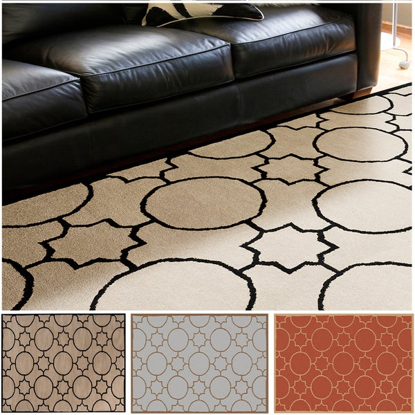 Hand-tufted Elbert Contemporary Geometric Wool Area Rug - 5' x 7'9