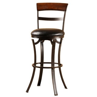 Kennedy Black/ Gold with Cherry Finish Stool