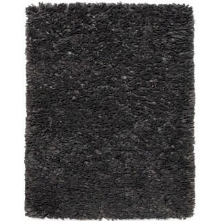 Jani Lea Grey Paper Shag Rug (4' x 6')