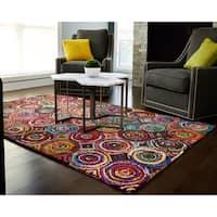 Jani Tangi Multi-Colored Circles Pattern Recycled Cotton Rug - multi - 5' x 8'