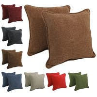 Blazing Needles 18-inch Corded Chenille Throw Pillows (Set of 2)
