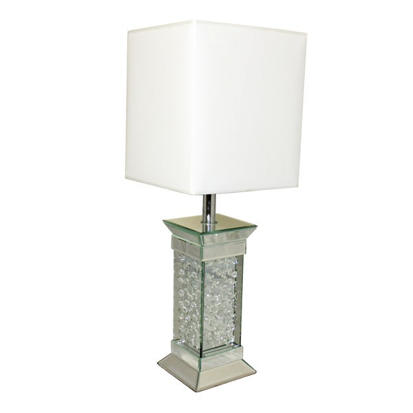 Shop Casa Cortes Crystal Rain 28 Inch Glass Table Lamp