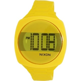 Nixon Men's 'Dash' Yellow Silicone Quartz Watch