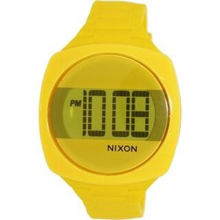 Nixon Men's 'Dash' Yellow Silicone Quartz Watch