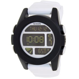 Nixon Men's 'Unit' Digital White Silicone Quartz Watch|https://ak1.ostkcdn.com/images/products/8757893/Nixon-Mens-Unit-Digital-White-Silicone-Quartz-Watch-P16000989.jpg?impolicy=medium