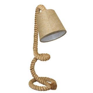 Casa Cortes 'Nautical' Twisted Rope Pier Metal Table Lamp