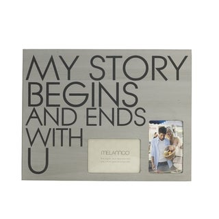 Melannco 'My Story Begins and Ends With U' 18-inch x 14-inch Wall Plaque