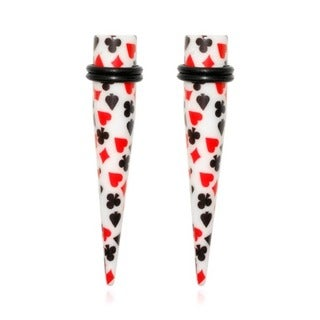 Supreme Jewelry Playing Cards Taper Hearts, Diamonds, Spades, Clubs Tapers (Pair)