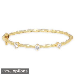 Molly and Emma 3-stone Cubic Zirconia Bangle