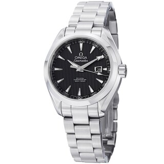 Omega Women's 'AquaTerra' 231.10.34.20.01.001 Black Dial Stainless Steel Automatic Watch|https://ak1.ostkcdn.com/images/products/8760099/Omega-Womens-231.10.34.20.01.001-AquaTerra-Black-Dial-Stainless-Steel-Automatic-Watch-P16002929.jpg?_ostk_perf_=percv&impolicy=medium