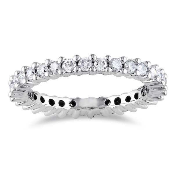 Miadora Signature Collection 14k White Gold 1ct TDW IGL-certified Diamond Eternity Ring