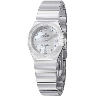 Omega Women's 123.10.27.60.55.002 'Constellation' Mother of Pearl Dial Steel Quartz Watch